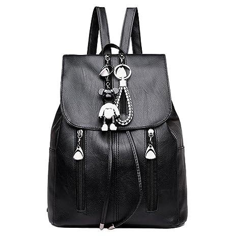 Widewing Mochilas mujer guess Bolso de escuela de las mochilas de las mujeres del cuero de