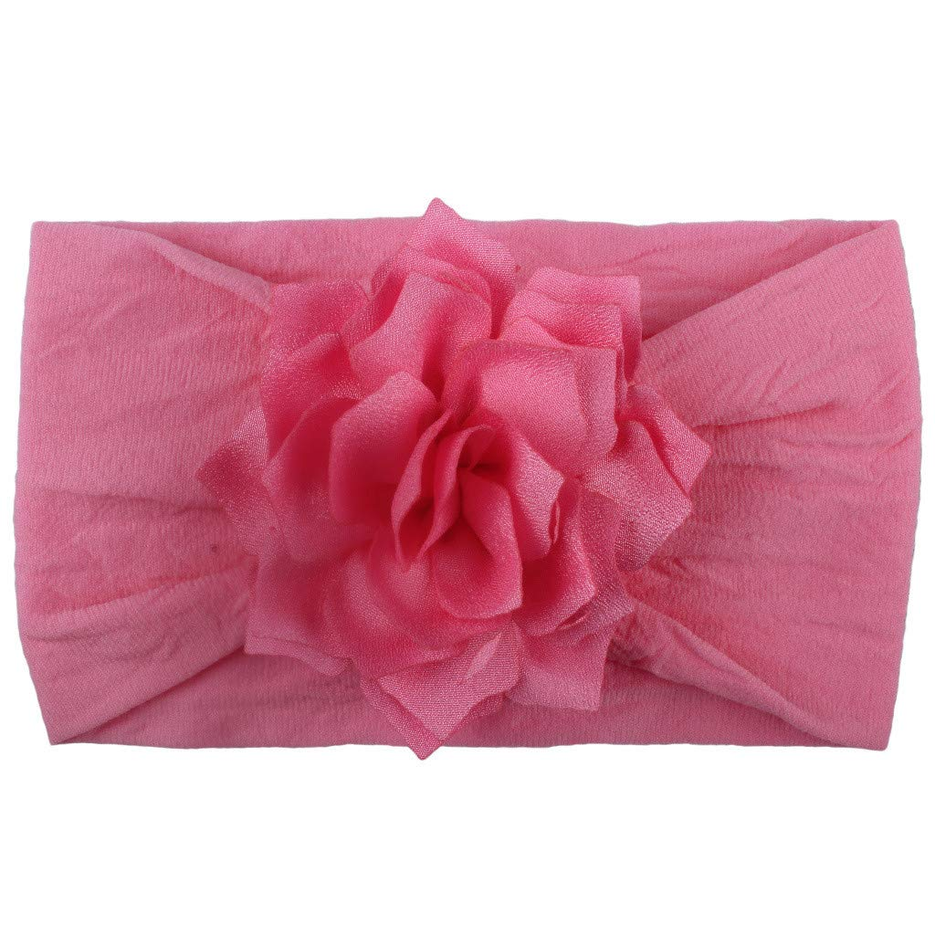 FDSD Women Maternity Clothes Newborn Infant Toddler Hair Accessories Baby Solid Flower Elastic Knotted Headbands Turban (G)