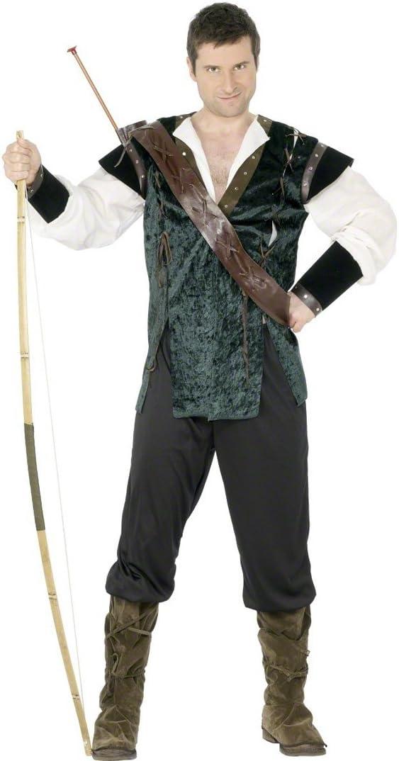 Disfraz de ladrón verde M 48/50 bosque de Robin Hood de disfraces ...