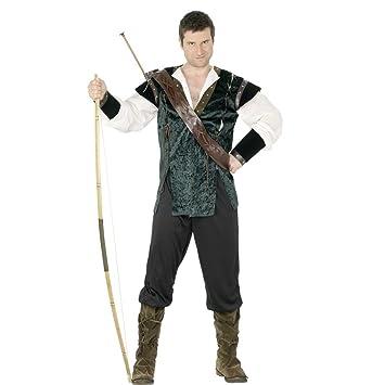 Disfraz Robin Hood verde L 52/54 cajas de bosque de la Edad media de