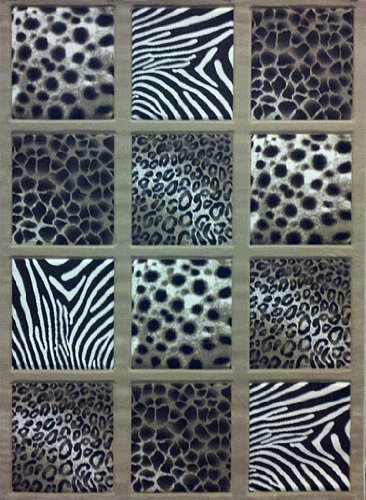 Modern Animal Prints Area Rug 8 Ft. X 10 Ft. 6 In. # S 251 Champagne