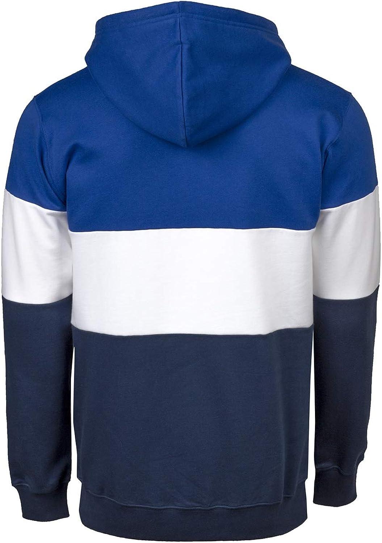Cleptomanicx Herren Hoodie Deck Stripe Blue