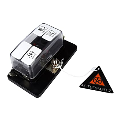 afterpartz 10~32v 100a blade fuse block holder terminals circuit auto car  fuse block box