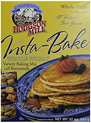 Hodgson Mill Insta Bake Whole Wheat Variety Baking Mix with Buttermilk, 32 Ounce
