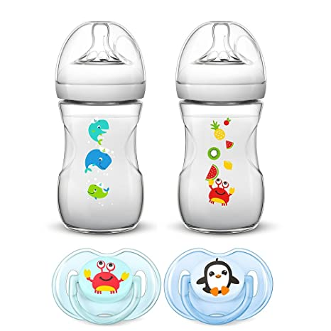 Philips AVENT naturnah Starter Set//Sea Dreams//2 x 260 ml naturnah ...