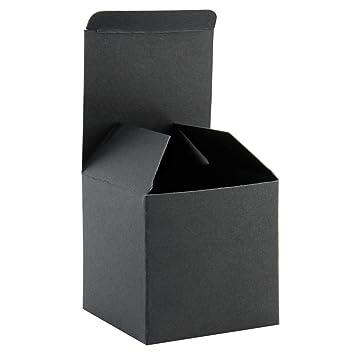 RUSPEPA 20Pack 8 X 8 X 8Cm Caja De Regalo Reciclada De Cartón Cuadrado, Cajas De Regalo Pequeñas Con Tapa Para Fiesta Y Manualidades (Negro): Amazon.es: ...
