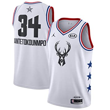 FDRYA Camiseta de Baloncesto de la NBA para Hombre # 34 Milwaukee ...