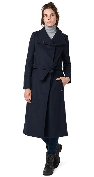 Maxi Xl Wool Sky Mujer Abrigo Tailor Captain Blue Tom Coat Denim HwECxpZq7