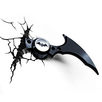 Amazon batman batarang 3d led wall light home kitchen batman batarang 3d led wall light aloadofball Choice Image