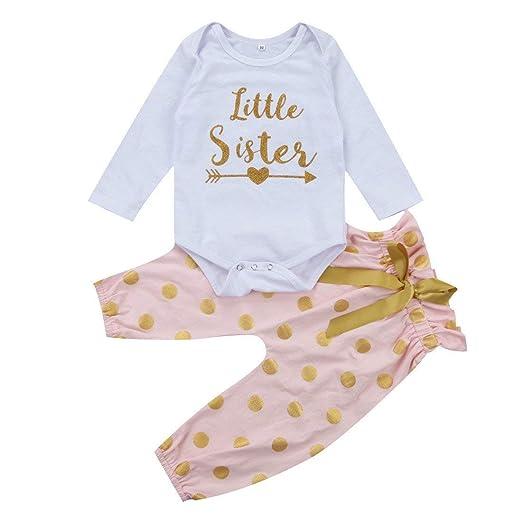 66111b1512d5 Amazon.com  Little Sister Big Sister Matching Onesie Newborn Outfits ...