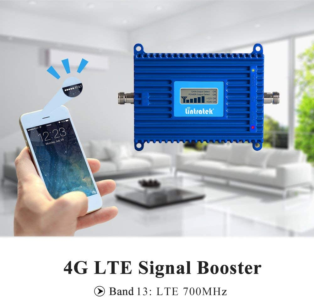 Vikye Mobile Phone Signal Amplifier US Plug Aluminum Mobile Signal Amplifier with Wide Coverage
