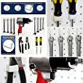 WallPeg 80 pc. Assorted White Peg Hooks - Garage Storage & Tool Organizer