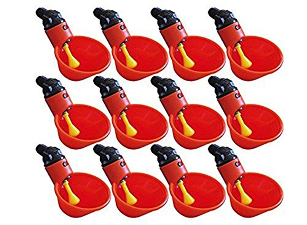 CHUANGRONG-US 12 Pcs Automatic Chicken Poultry Drinkers Waterers Cups