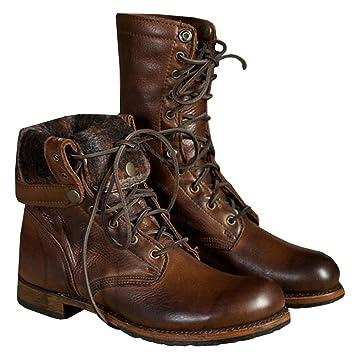 98d94ee33effe3 Männer Werkzeuge Mitte Kalb Stiefel Leder Schuhe Braun Schnüren Winter  Herbst Eben Mode Groß Größe 39