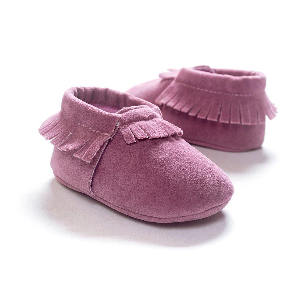 Kuner Baby Boys Girls Tassel Soft Soled Non-Slip Crib Shoes Moccasins First Walkers KR-8050