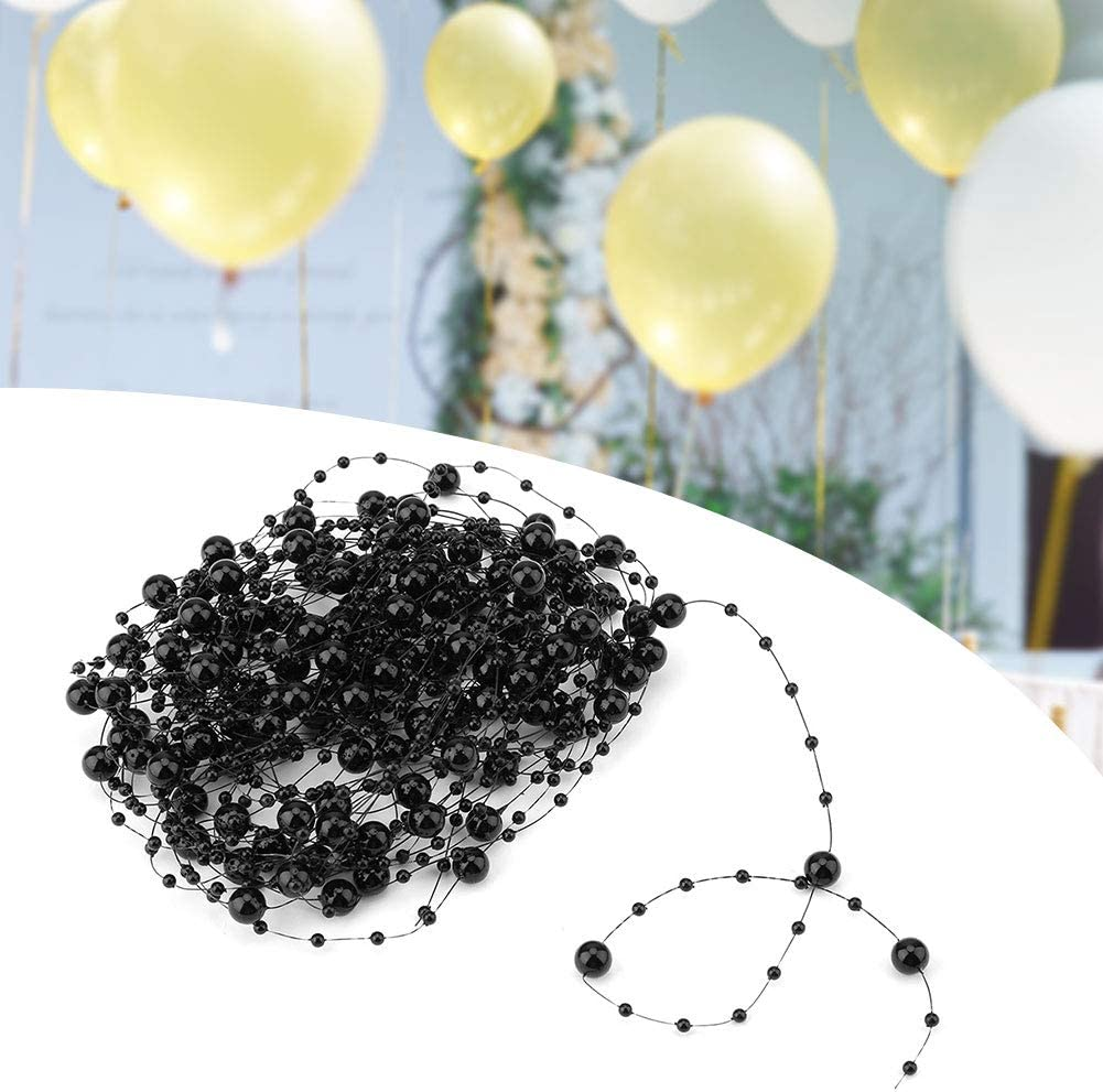 HEEPDD 10M Beaded Pearl Garland Blue Artificial Pearls String Beads Chain Garland ABS Crystal Strand for Christmas Valentine Flowers Wedding Decoration Party Supplies