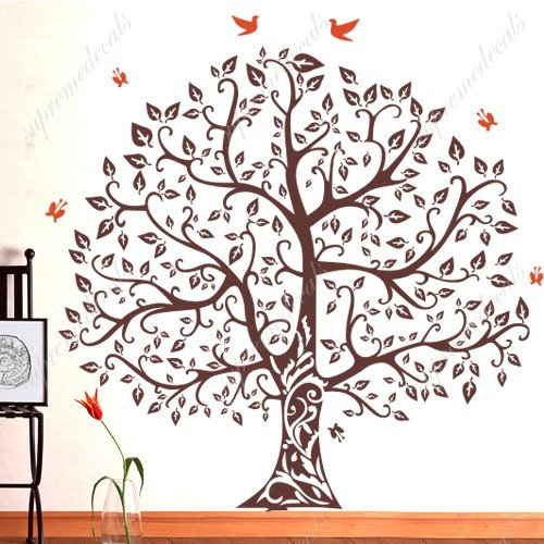 Amazon.com: Banyan Tree   White   Beautiful Tree Wall Decals For Kids Rooms  Teen Girls Boys Wallpaper Murals Sticker Wall Stickers Nursery Decor  Nursery ...