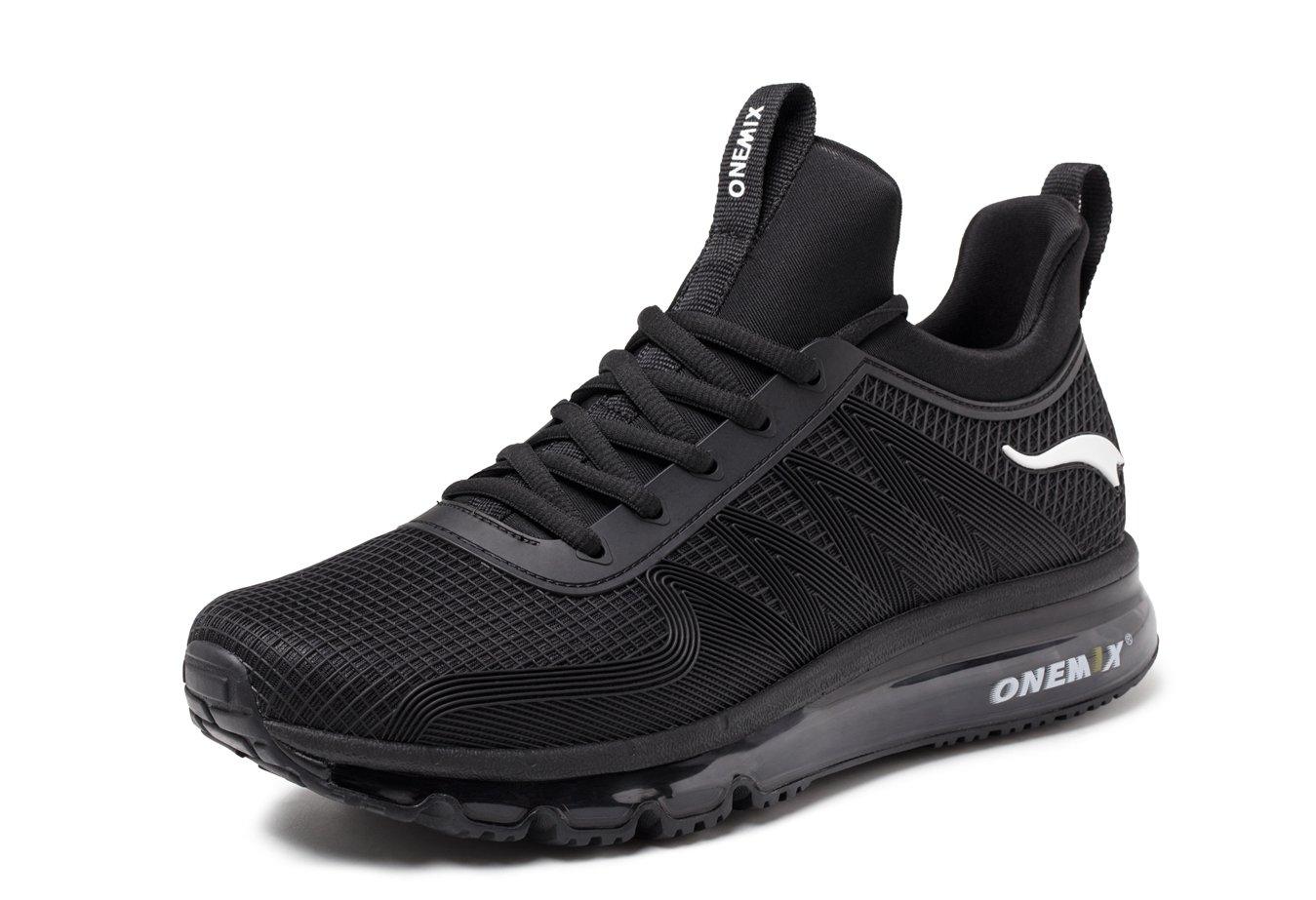 ONEMIX Hombre Zapatillas de Running Fitness Casual zapatilla de deporte 44 EU|Negro