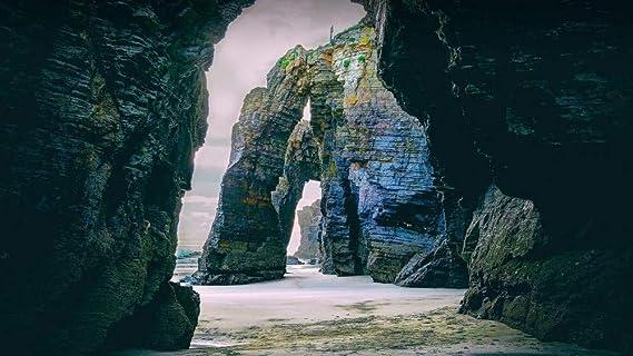 CZYSKY Playa De Las Catedrales, Galicia, España, Rompecabezas De 35 Piezas Puzzle Juguete De Madera (15 * 9.9Cm): Amazon.es: Hogar