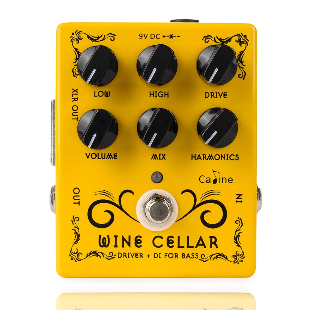 Caline CP-60 Wine Cellar Driver Guitar Effects Pedals Classic Tube Bass Amp Guitar Yellow Pedal