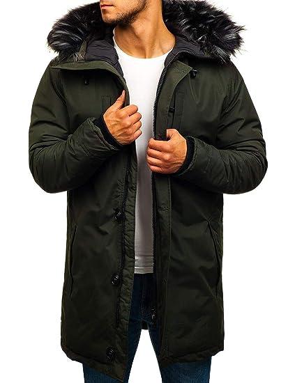 BOLF Herren Winterjacke Parka Jacke Kapuzenjacke Zip Casual Style 4D4   Amazon.de  Bekleidung d22cd5aaed