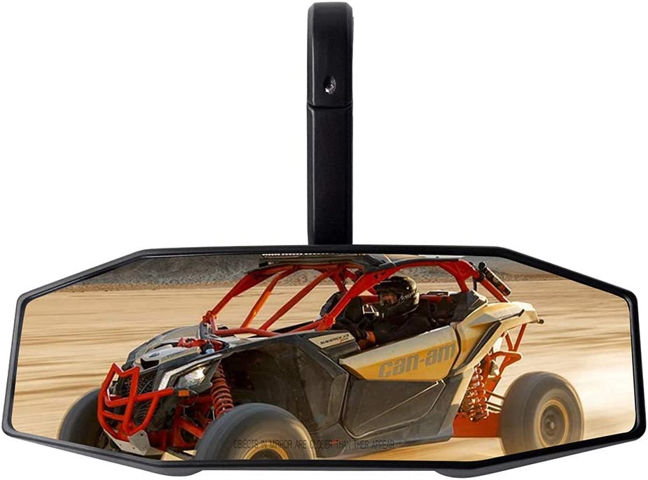 UTV Mirror 1.75 High-Definition Race Convex Mirror ShatterProof Tempered Glass and 1.75 Clamp Compatible for all Polaris RZR 800 1000S 900 1000 for all 2015-2018 Arctic Cat Wildcat Sport