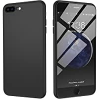 iPhone 7 Plus Case, iPhone 8 Plus Case, CAFELE Ultra Thin Soft Flexible TPU Case Cover Matte Finish Coating [Slim Fit] [Lightweight] [Non-Slip] for iPhone 7 Plus (2016) /iPhone 8 Plus (2017), Black