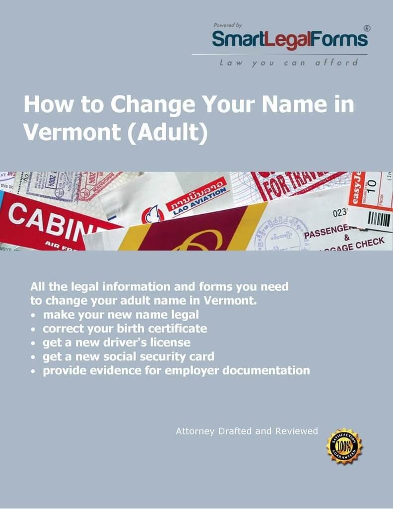 VT Adult Name Change [Instant Access] by SmartLegalForms, Inc.