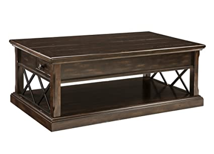 Signature Design By Ashley T701 9 Roddinton Coffee Table With Lift Top, Dark  Brown