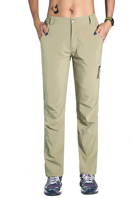 Unitop Women's Quick Dry Travel Hiking Pants Khaki M 30'' Inseam