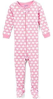 d292e86fc Amazon.com  Elowel Baby Girls Footed Giraffe Pajama Sleeper 100 ...