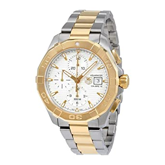 591f9e74b97f2 Image Unavailable. Image not available for. Color: Tag Heuer Aquaracer  Chronograph Silver Dial Mens Watch ...