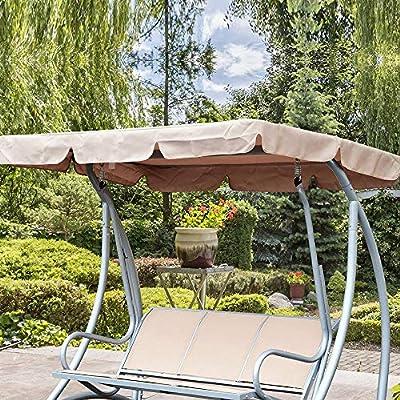 NOBRAND - Toldo de repuesto universal para silla de columpio, cubierta para patio, hamaca, cubierta superior de jardín al aire libre: Amazon.es: Jardín