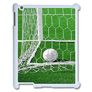 wugdiy New Fashion Hard Back Cover Case for iPad2,3,4 with New Printed Soccer Ball