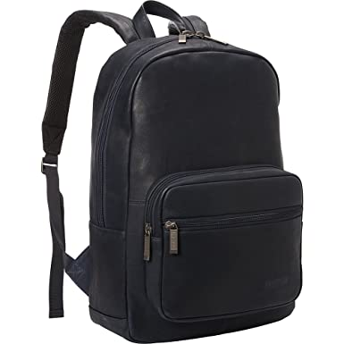 d0315adb2 Kenneth Cole Reaction Unisex Colombian Leather Computer Backpack Navy One  Size