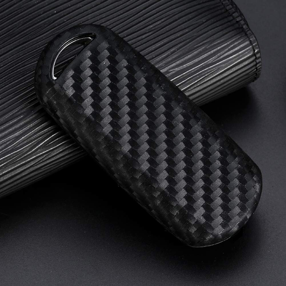 Keyless Entry Remote Case Key Fob Cover Carbon Fiber Looks Style Soft Silicone Holder Shell with Key Chain for Mazda 3 6 8 CX-3 CX-4 CX-5 CX-7 CX-9 Atenza Axela Miata MX-5 2//3//4//5-Buttons etc