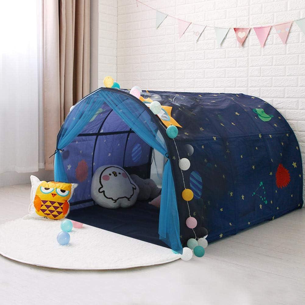 Goodtimera Bett Zelt Kinder Kinderbett Zelt Spielhaus Baby Home Zelt Junge M/ädchen Safe House Tunnel Zelt