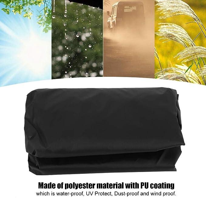 Grau Garten Balkon Sonnenliege Abdeckung Wasserdicht Anti UV Staubdicht Terrasse Sonnenliege Deck Stuhlabdeckung Gartenm/öbel Protector mit Einem Aufbewahrungstasche