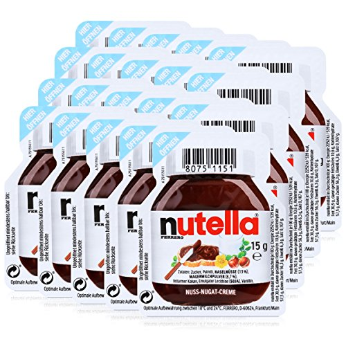 Spread Nutella Hazelnut Chocolate - Nutella 20 - 20 X 15G Serving
