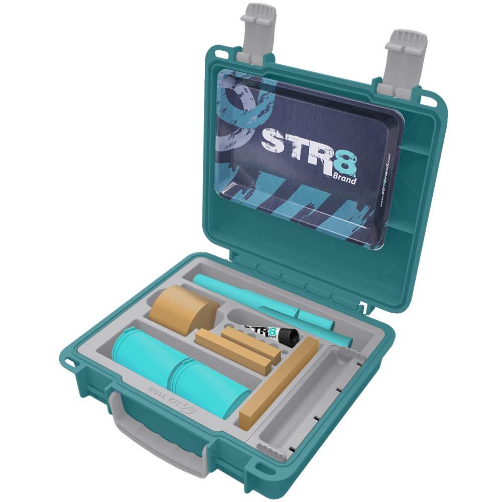 STR8 Brand - Smoking Roll Kit V3, Watertight, Smell Proof, Lockable, Travel Case (Teal)