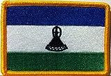 LESOTHO Flag Embroidered With VELCRO Patch MC Biker Military Tactical Shoulder Gold Emblem #096