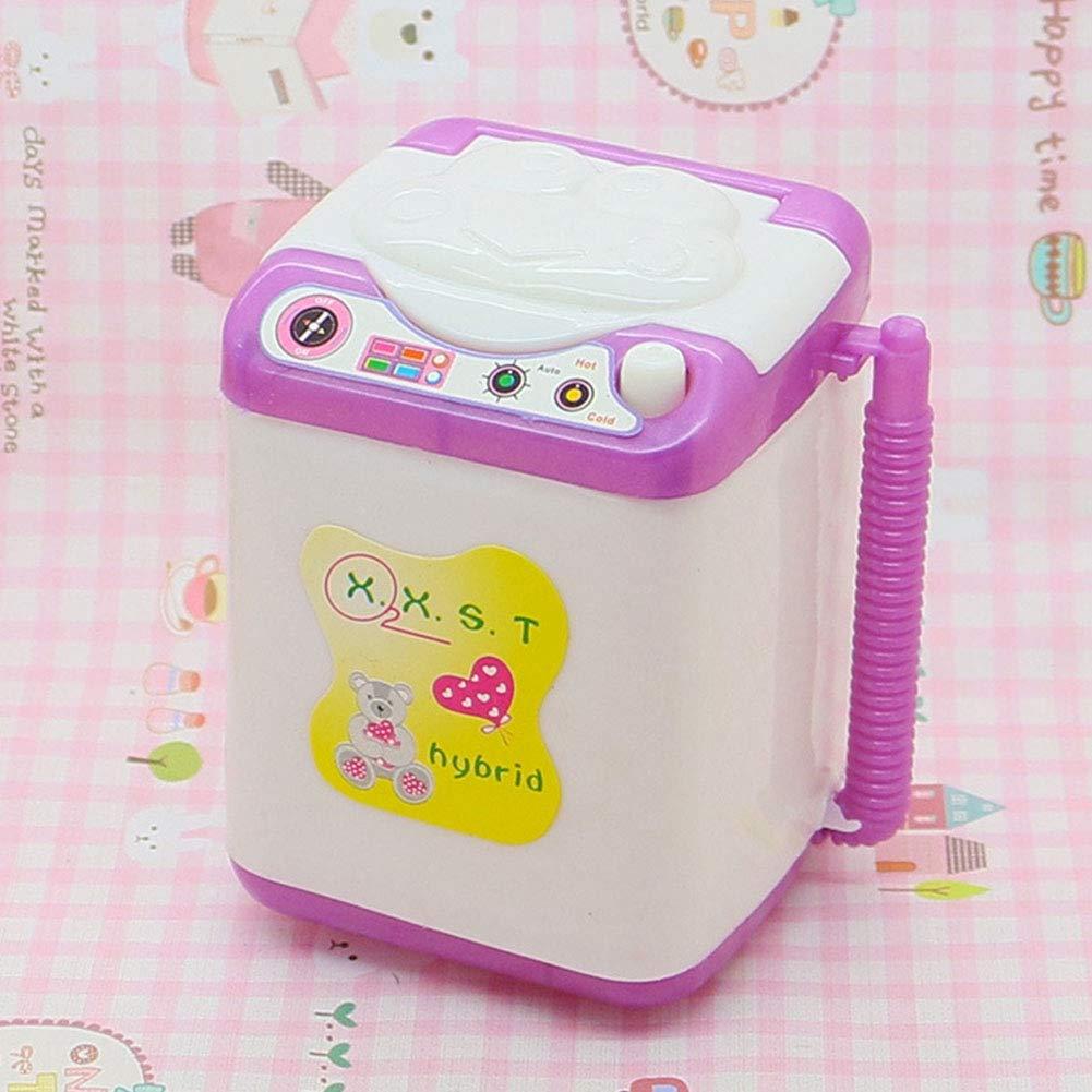 Zerodis Baby Home Mini Laundry Juego de Juegos Pretender Jugar Lavadora Doll House Juguetes para beb/és Accesorios para ni/ños Dollhouse Mini Washing Machine