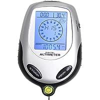 BlueBeach® 8 en 1 LCD multifonction boussole Altimètre Baromètre Thermomètre pour une utilisation extérieure, horloge, temps, calendrier, rétro-éclairage