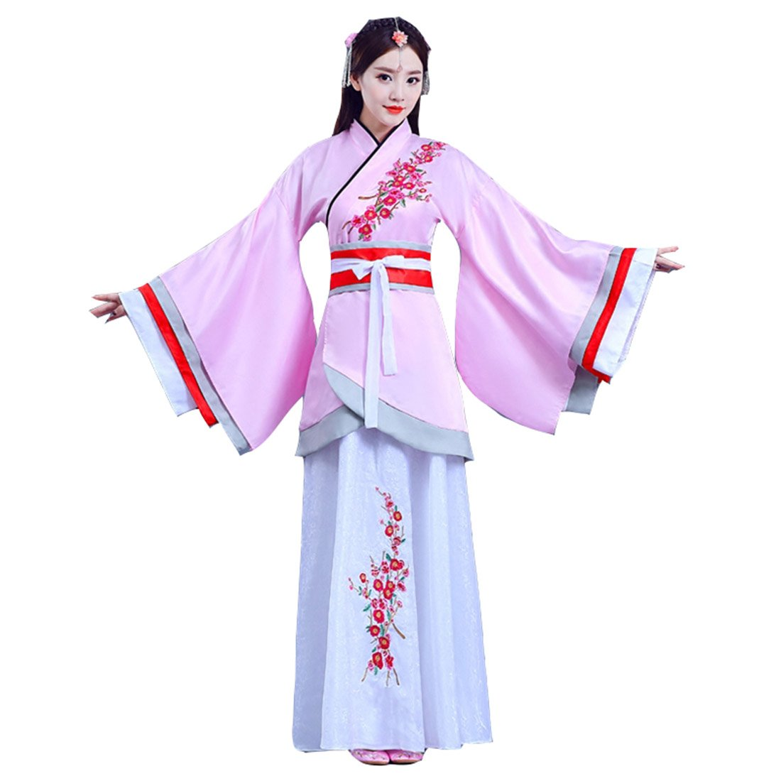 Ez-sofei Womens Ancient Chinese Traditional Hanfu Dress Han Dynasty Cosplay  Costume 045caadc2