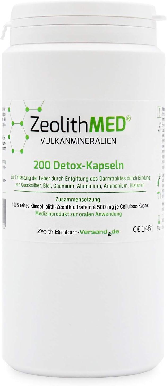 Zeolita MED 200 Cápsulas desintoxicantes