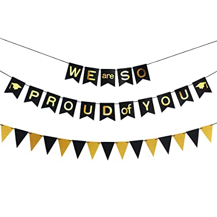amazon com we are so proud of you banner graduation banner