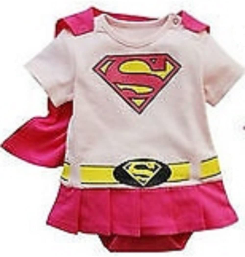 2 yrs Baby Boy Superman Supergirl Fancy Dress Costume Babygrow Outfit 6 months