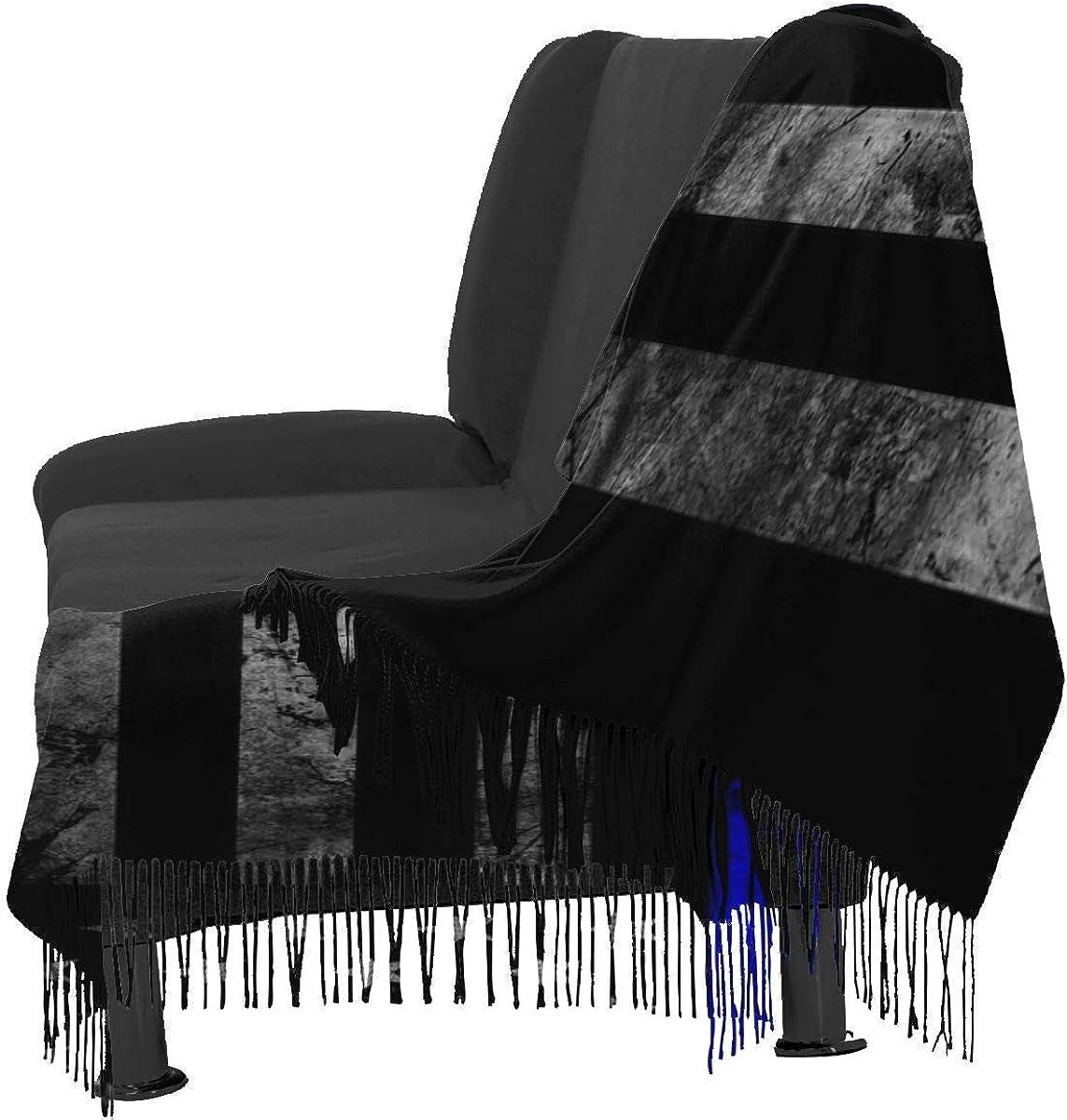 America Flag Us Flag Blue Black2 Warm Soft Cashmere Shawl Wrap Scarves Long Scarves For Women Office Worker Travel