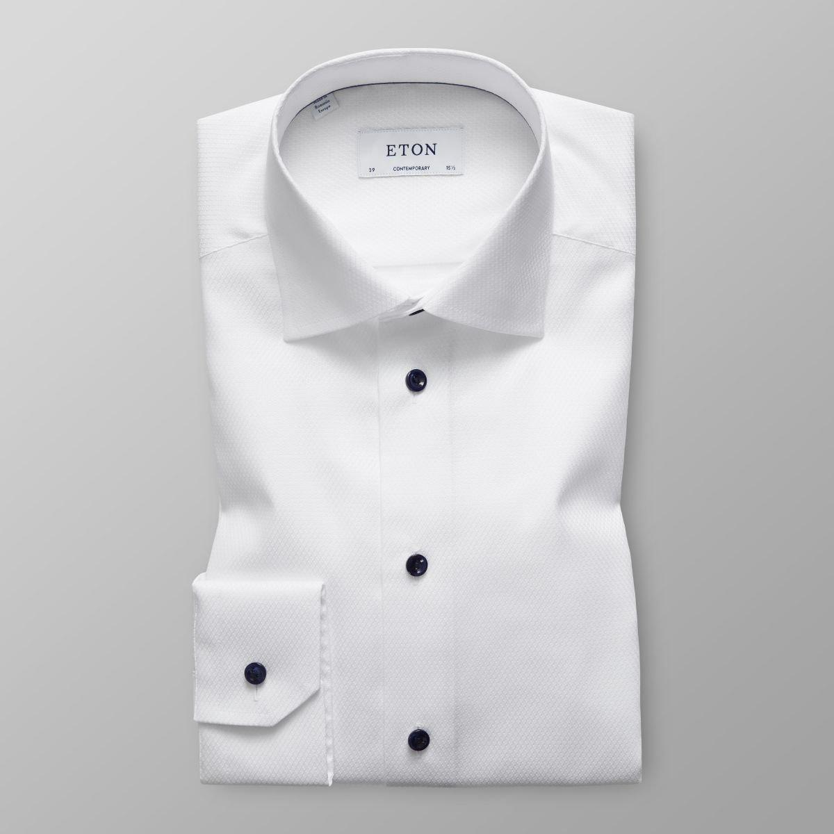 1c73f9fa9a59bf Eton Men's White Twill Blue Buttons Shirt (White, 16) at Amazon Men's  Clothing store:
