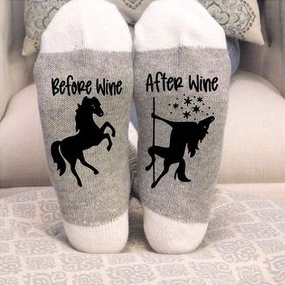 VJGOAL Moda casual para mujer Placa de pie Imprimir Mantener caliente Transpirable Monopatín Calcetín de algodón Calcetines cómodos(Un tamaño, ...